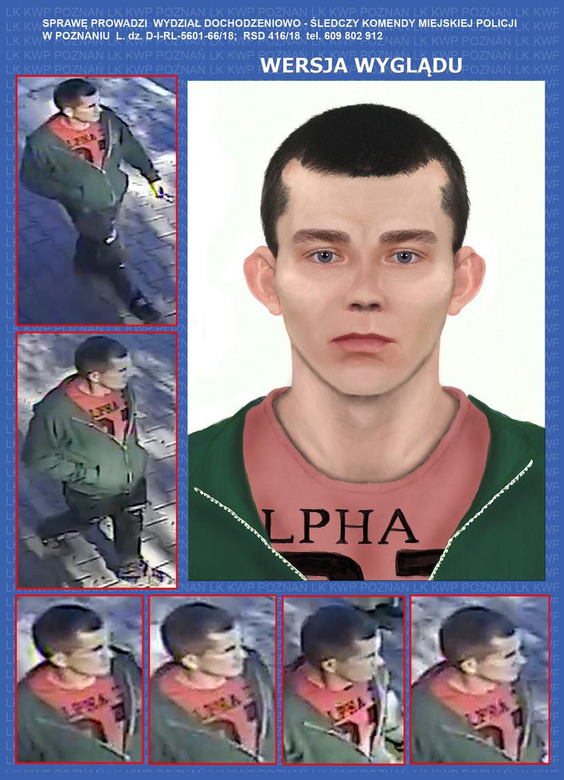 Poszukiwany mężczyzna, Komenda Miejska Policji w Poznaniu /Policja