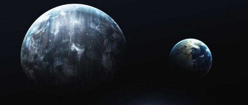 Potencjalny wygląd Planety X i jej porównanie do Ziemi /materiały prasowe