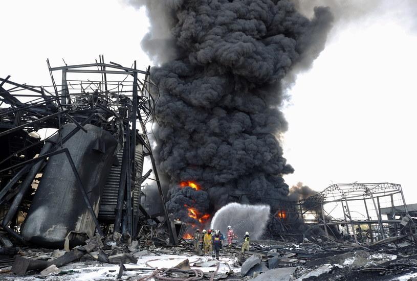 Potężna eksplozja w fabryce chemicznej na przedmieściach stolicy Tajlandii Bangkoku /PAP/EPA/RUNGROJ YONGRIT /PAP