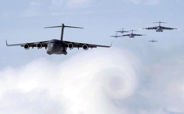 Potężne C-17.    Fot. Boeing /materiały prasowe