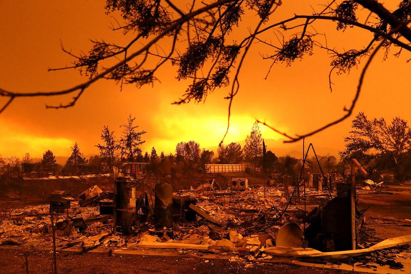 Potężne pożary w miejscowości Redding w Usa /JUSTIN SULLIVAN / GETTY IMAGES NORTH AMERICA /AFP
