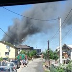 Potężny pożar składowiska opon koło Olkusza