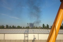 Potężny pożar w Chorzowie