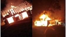 Potężny pożar w małopolskiej Więciórce. W akcji: 12 zastępów strażaków