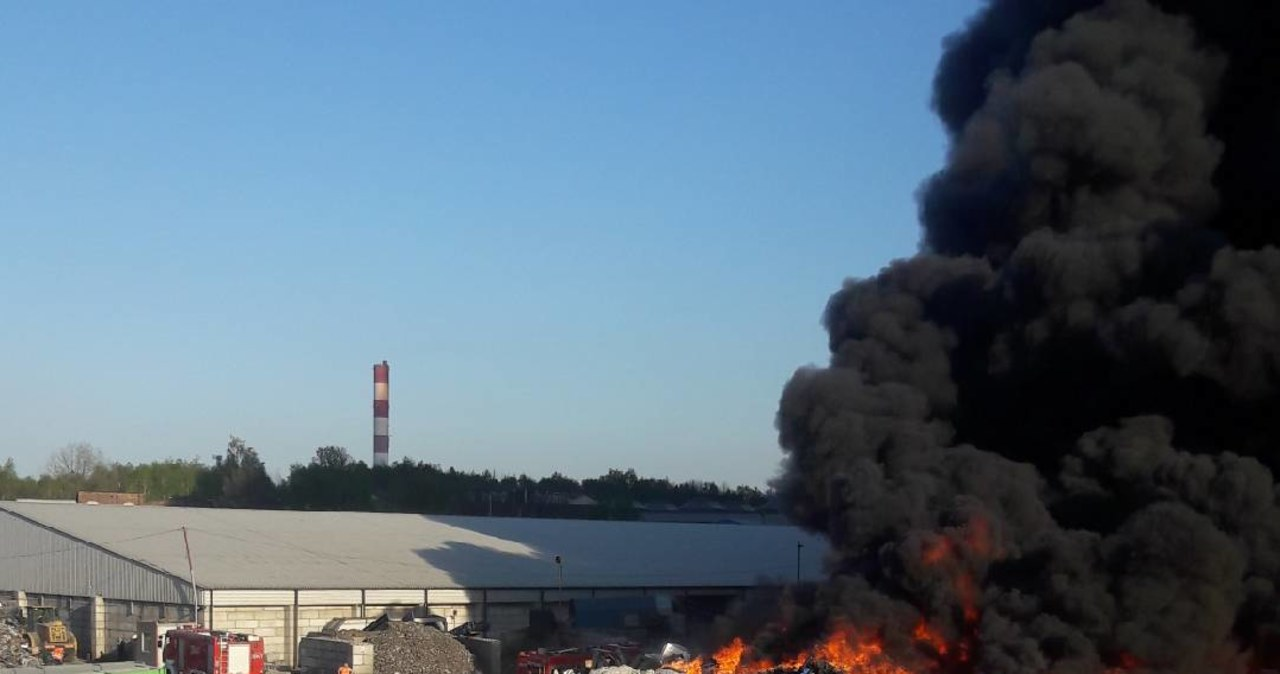 Potężny pożar w Siemianowicach Śląskich: Płonie składowisko odpadów