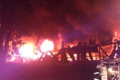 Potężny pożar w Twardogórze