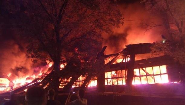 Potężny pożar w Twardogórze /RMF24 /Twitter