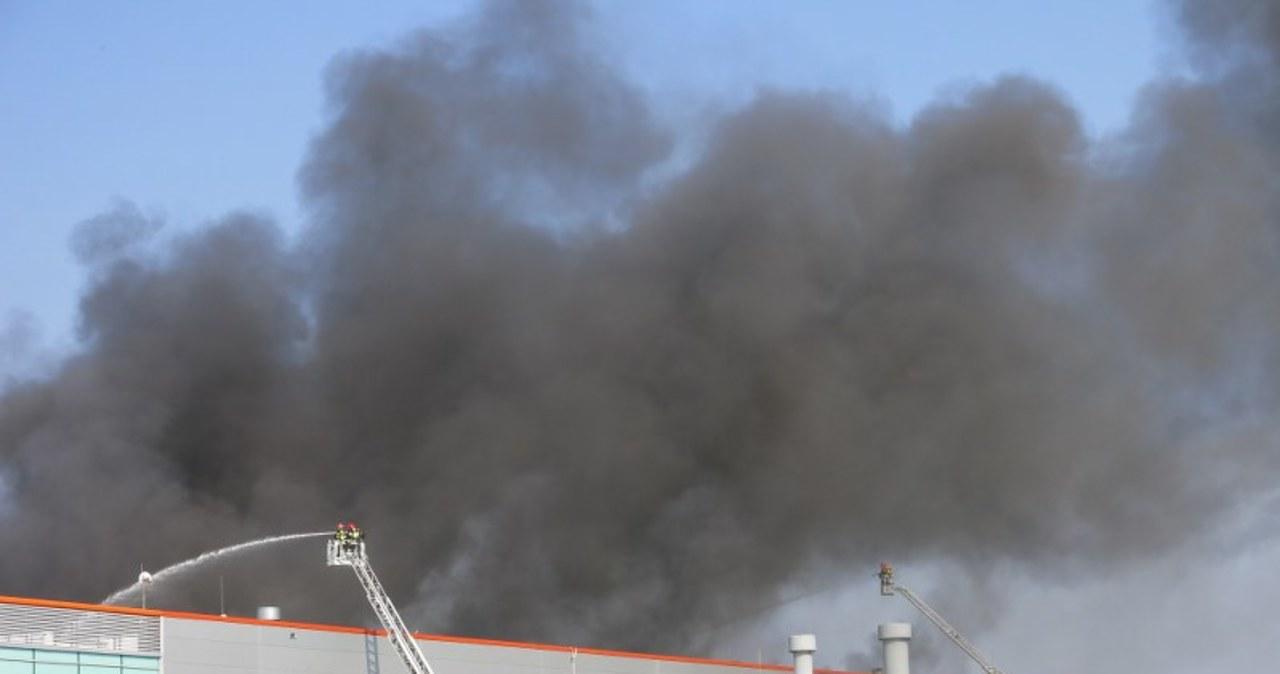 Potężny pożar w Żorach