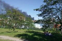 Potężny pożar we Wrocławiu