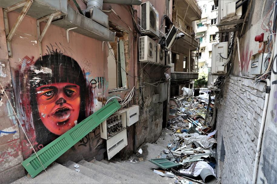 Potężny wybuch w Bejrucie miał miejsce we wtorek po południu w tamtejszym porcie /NABIL MOUNZER   /PAP/EPA