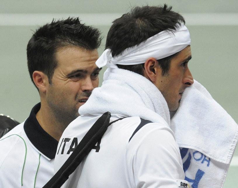 Potito Starace (z prawej) i Daniele Bracciali /AFP