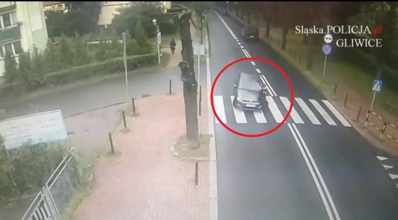 Potrącenie pieszej na pasach /foto. Policja Gliwice /materiały prasowe