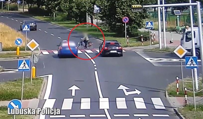 Potrącenie rowerzysty /Policja