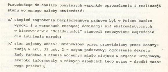 """Poufne opracowanie """"Przesłanki wprowadzenia stanu wojennego w PRL"""" /Archiwum Akt Nowych"""