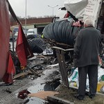 Poważny wypadek na A1. Zderzyły się dwie ciężarówki