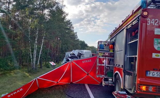 Poważny wypadek w okolicach Zielonej Góry. Ponad 20 osób poszkodowanych