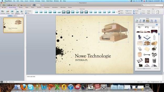 PowerPoint to dokładnie to, co znamy z Windowsa /INTERIA.PL