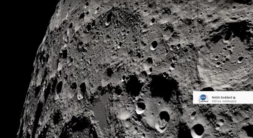 Powierzchnia Księżyca /NASA /YouTube