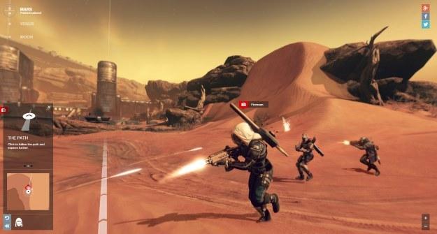 """Powierzchnia Marsa - wersja przygotowana przez Bungie i Google na potrzeby gry """"Destiny"""" /materiały prasowe"""