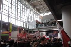 Powitanie medalistów na lotnisku Chopina