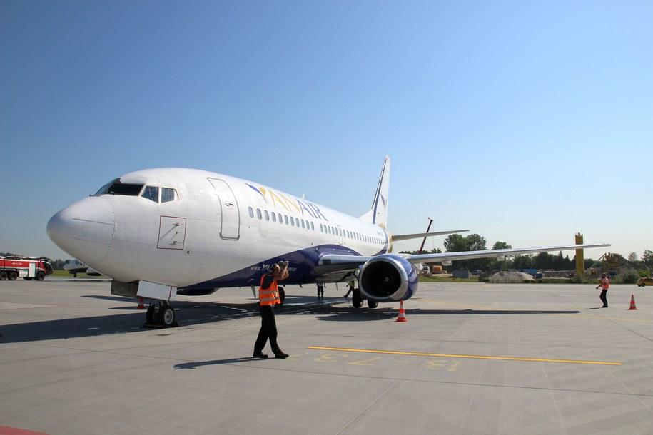 Powitanie pierwszego samolotu z Odessy /Wojciech Michalski /RMF FM