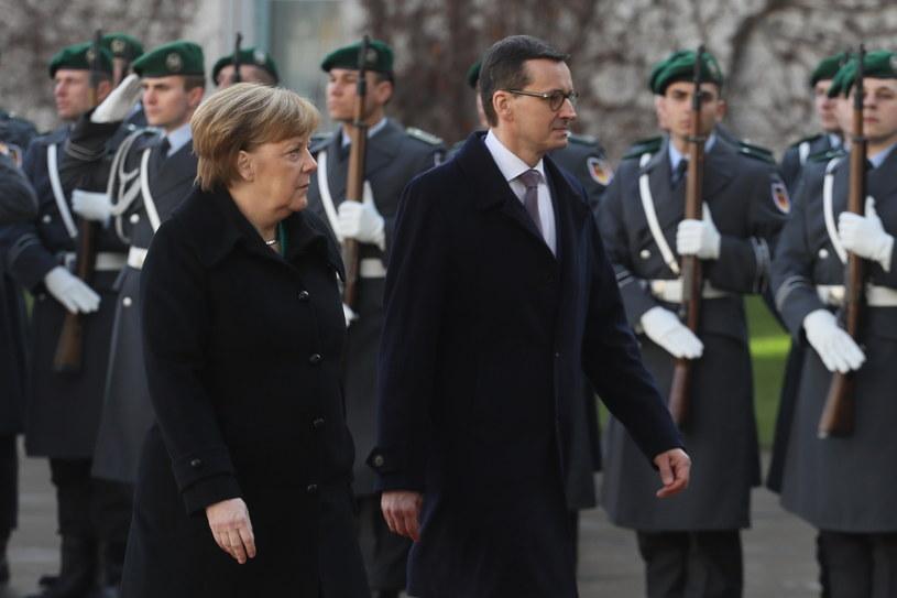 Powitanie premiera Morawieckiego w Berlinie /Paweł Supernak /PAP