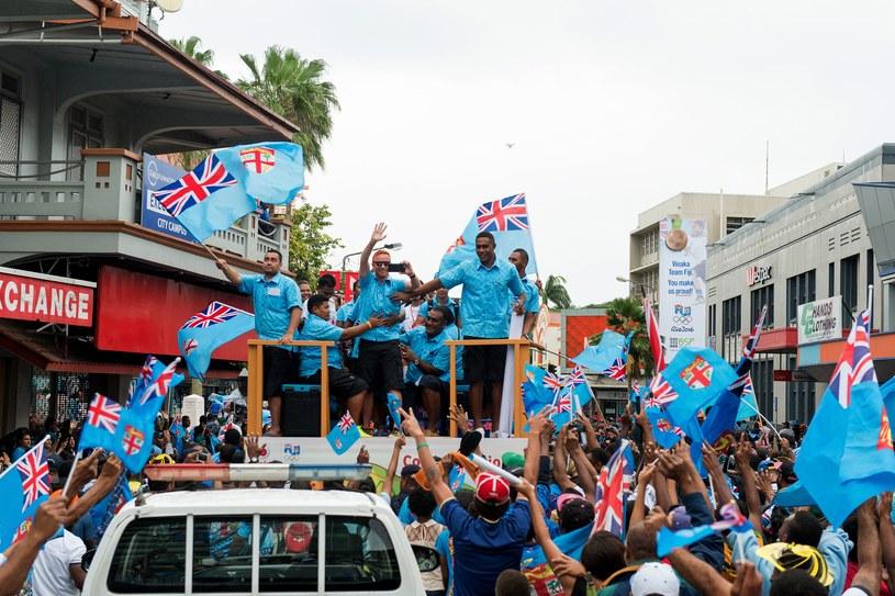 Powitanie rugbystów Fidżi w kraju /AFP