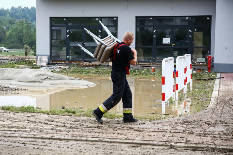 Powódź błyskawiczna w Głogoczowie (Małopolska) /Beata Zawrzel /Reporter
