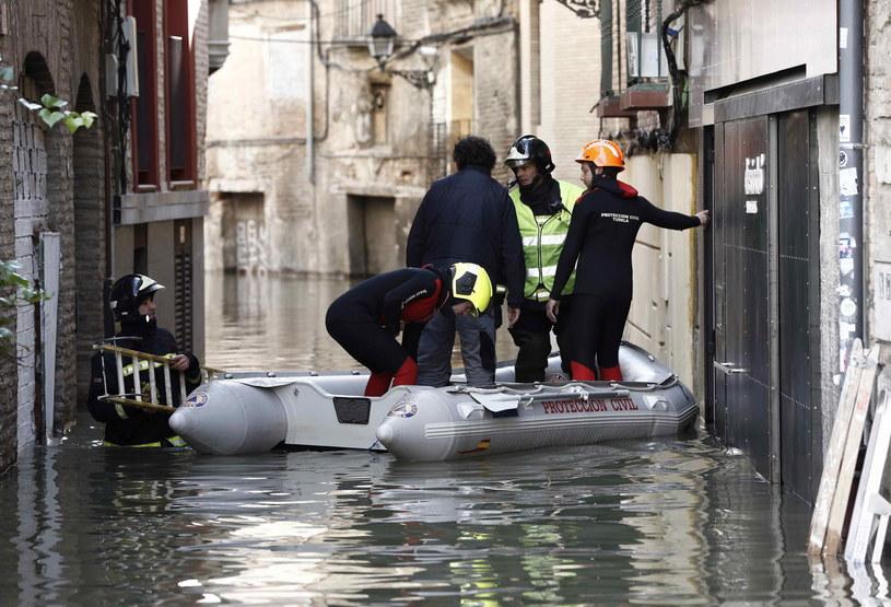 Powódź w Hiszpanii /PAP/EPA