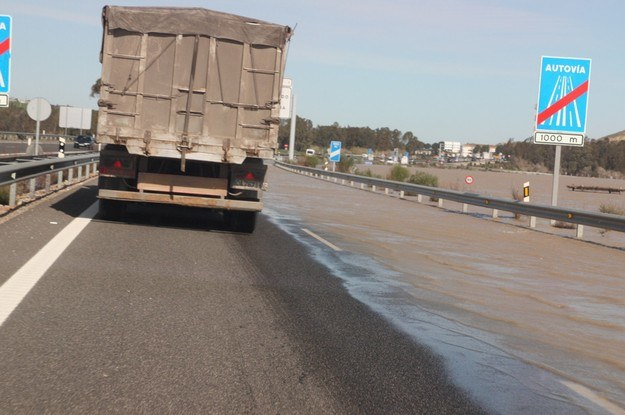 Powódź w okolicach Jerez /INTERIA.PL