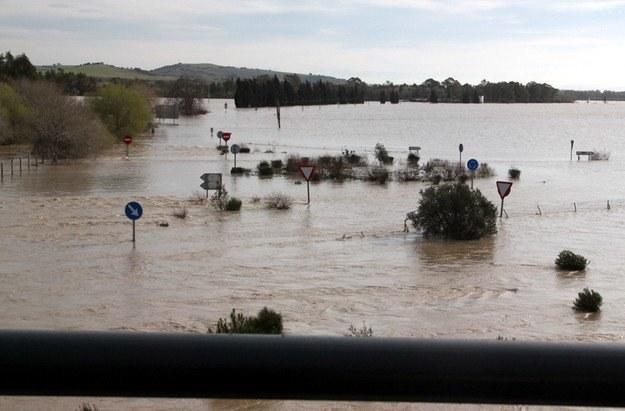 Powódź w okolicy Jerez /INTERIA.PL