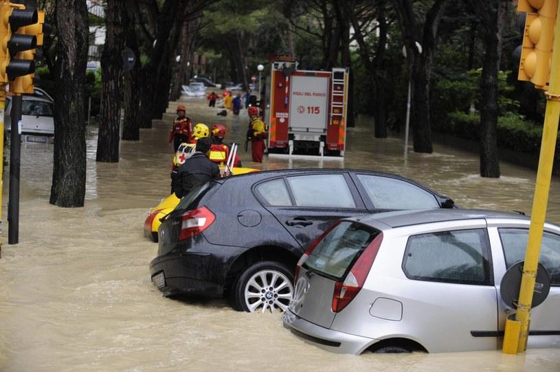 Powódz w Senigallii /AFP