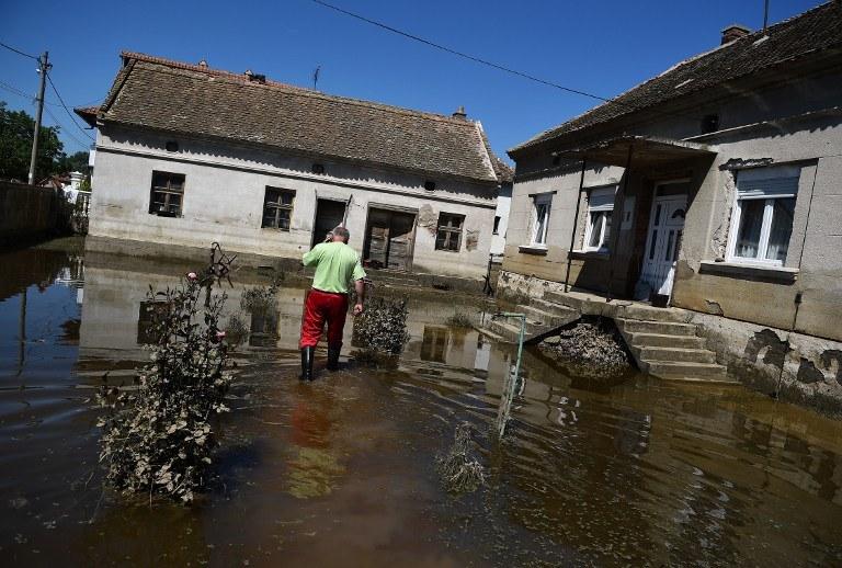 Powódź w Serbii /AFP