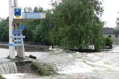 Powódź zagraża obozowi Auschwitz II - Birkenau
