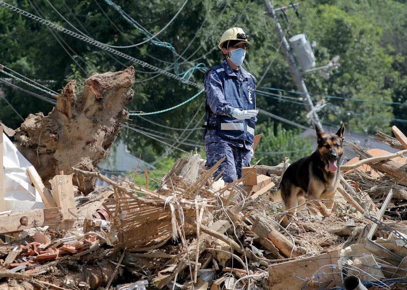 Powodzie w Japonii spowodowały wielkie szkody /PAP/EPA