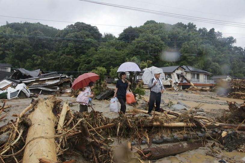 Powodzie w Japonii /KIMIMASA MAYAMA /PAP/EPA