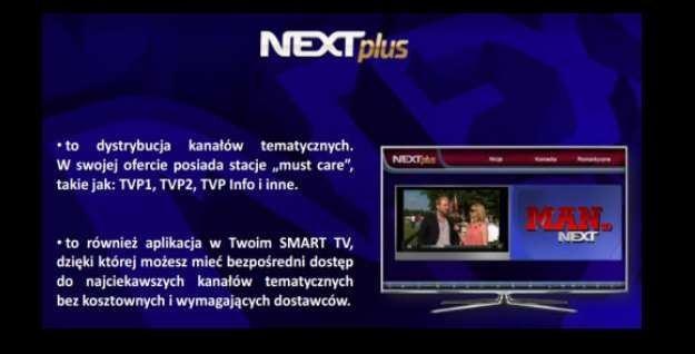 Powstaje nowa platforma telewizyjna? Ekran z prezentacji platformy Next Plus /SatKurier