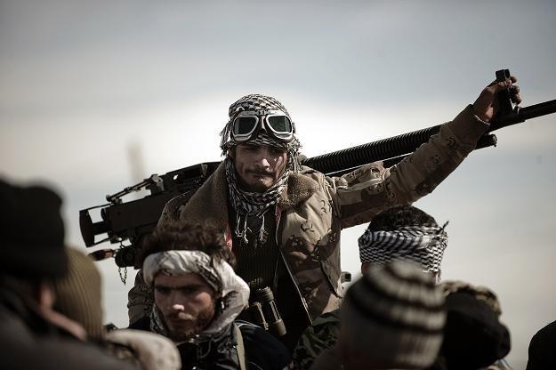 Powstańcy w mieście Brega /AFP