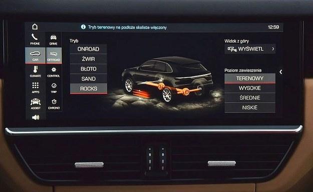 Poza trybami sportowymi Porsche oferuje paletę programów terenowych na różne nawierzchnie. /Motor