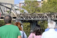 """Pożar """"żelaznego mostu"""" w Rzymie"""