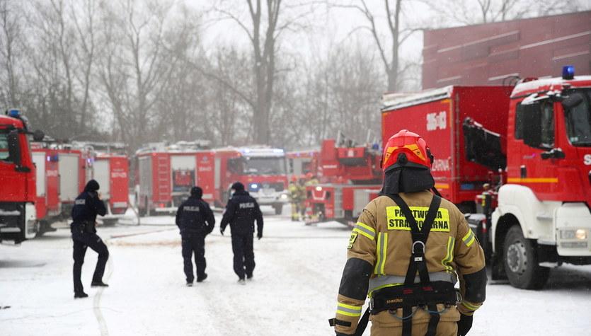 Pożar archiwum Urzędu Miasta w Krakowie. Bardzo trudna akcja gaśnicza