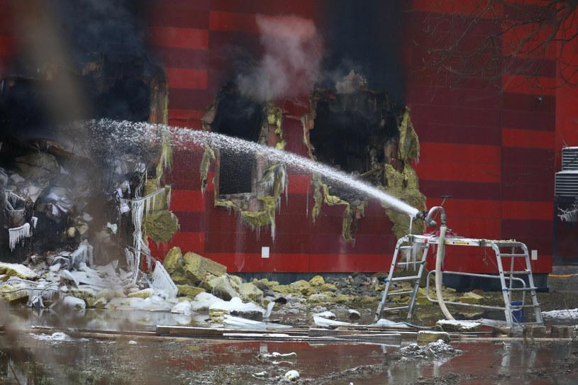 Pożar archiwum Urzędu Miasta w Krakowie /Beata Zawrzel/REPORTER /East News