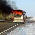 Pożar autobusu w Kazachstanie. Wszystko przez przenośną kuchenkę gazową
