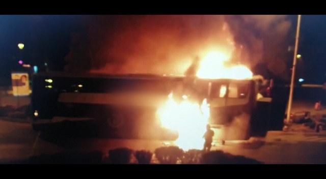 Pożar autobusu w Tomaszowie Lubelskim /Policja Lubelska /materiały prasowe