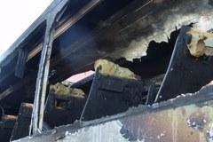 Pożar autokaru, którym jechały dzieci