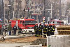 Pożar biurowca w Warszawie