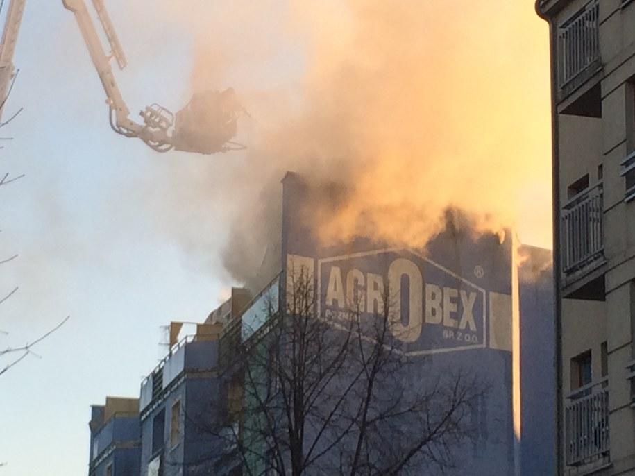 Pożar budynku przy ul. Roboczej w Poznaniu /Adam Górczewski /RMF FM