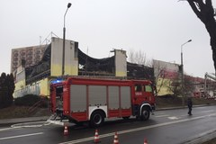 Pożar domu handlowego w Tczewie