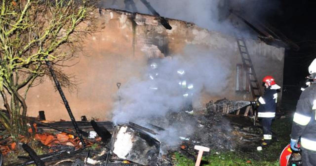 Pożar domu jednorodzinnego w Baniach Mazurskich
