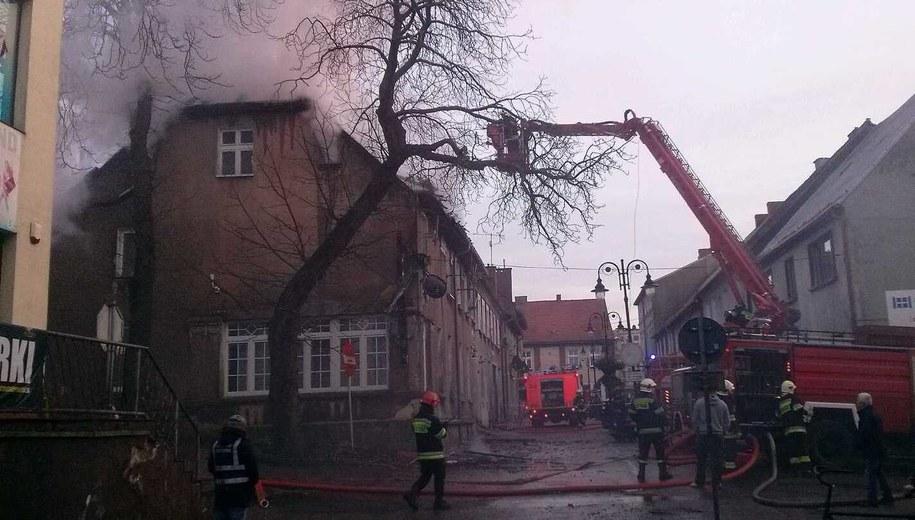 Pożar domu w Czaplinku /Gorąca Linia RMF FM /Gorąca Linia RMF FM
